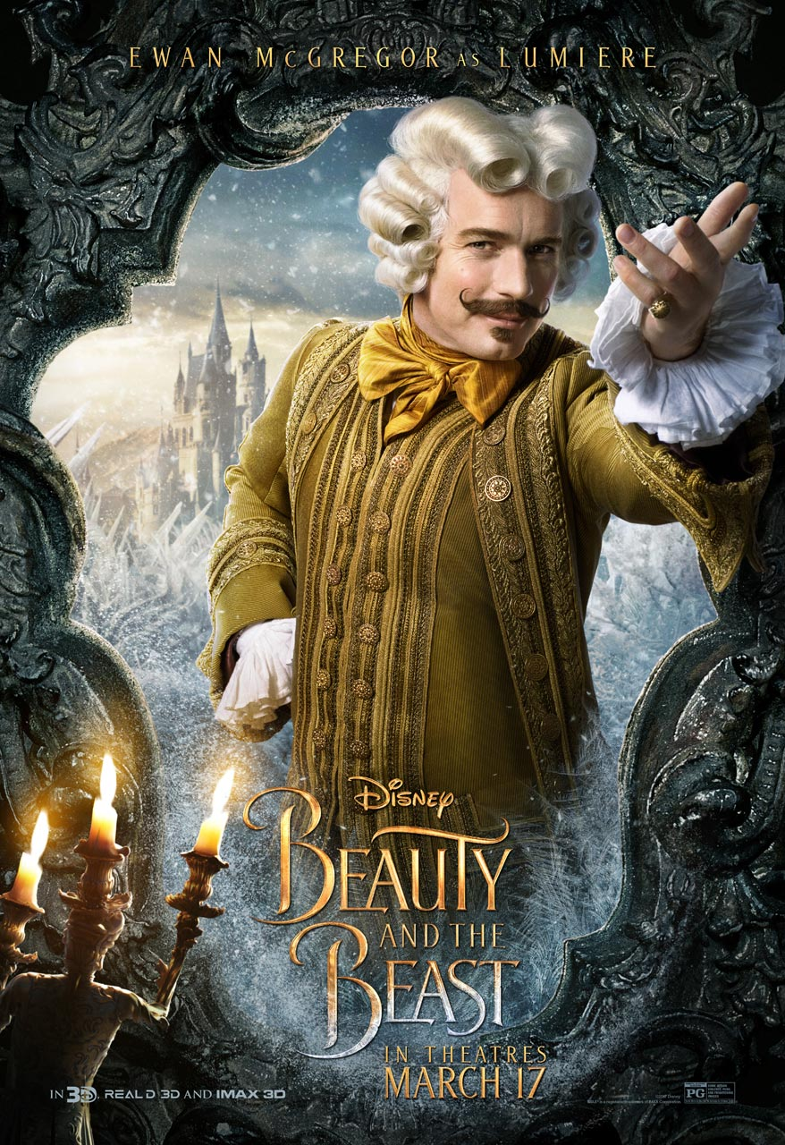 Beauty and the Beast - Ewan McGregor as Lumière