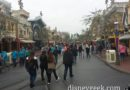 Arriving on a cloudy Main Street USA #Disneyland