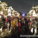 Still raining at #Disneyland – Just announced #MSEP cancelled