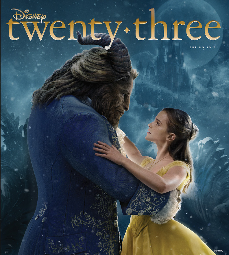 Disney D23 Magazine Cover - Spring 2017 - Beauty and the Beast