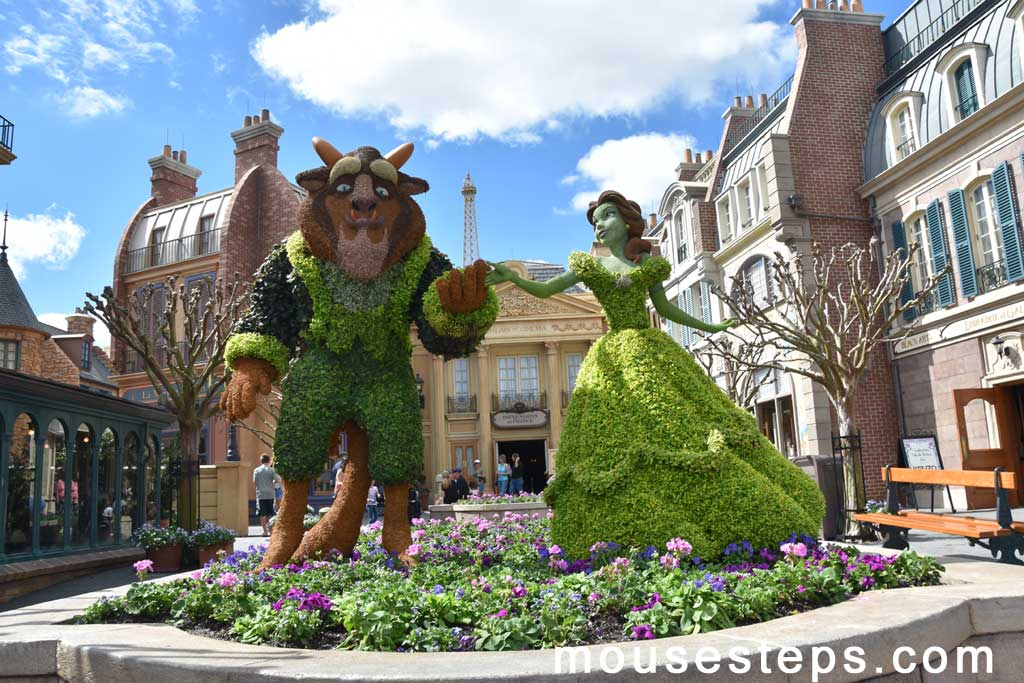 Belle & the Beast Topiaries from Beauty and the Beast