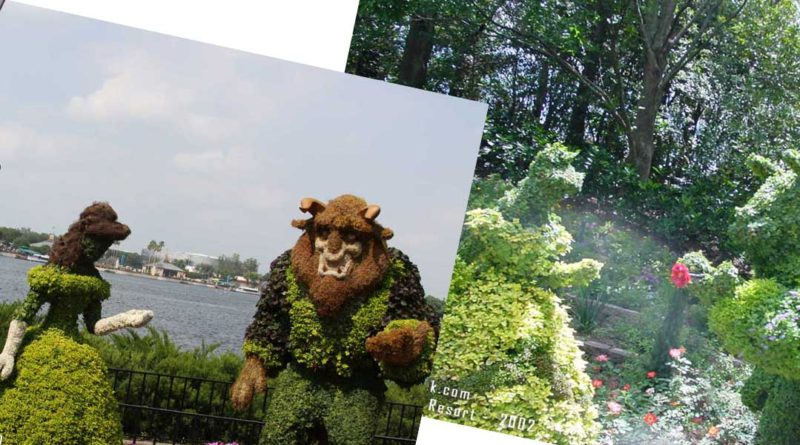 Beauty the Beast Topiaries