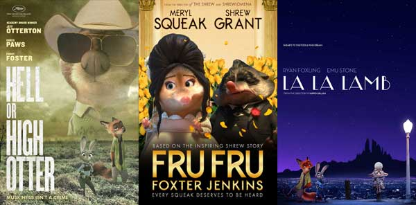 2017 Zootopia Oscars Movie Posters