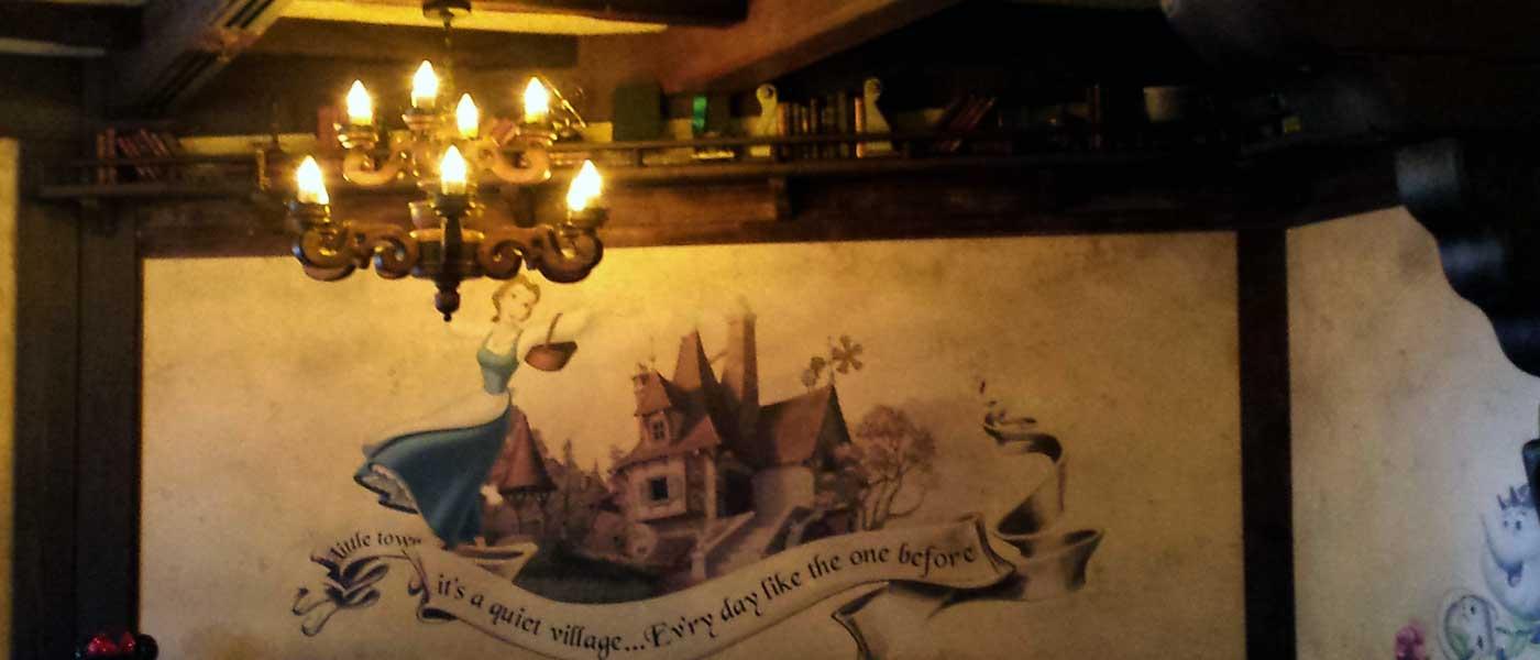 1st Look at The Red Rose Taverne in Fantasyland