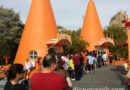 Longest food line of the day so far.  Cozy Cone ice cream.