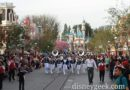 #Disneyland Band marching to Town Square for the nightly Flag Retreat Ceremony
