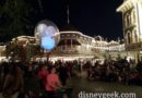 Found a spot for Main Street Electrical Parade but one balloon is in the way, maybe they will lower it