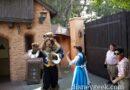Belle & the Beast were roaming Fantasyland