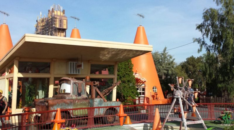 Mater at the Cozy Cone in Cars Land