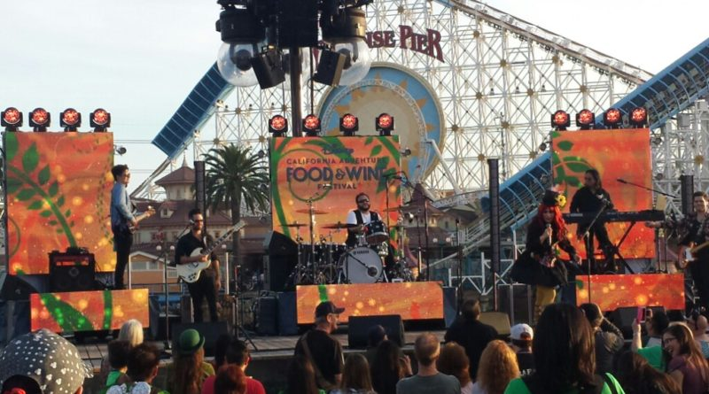 Tomasina performing at Disney California Adventure Food and Wine Festival