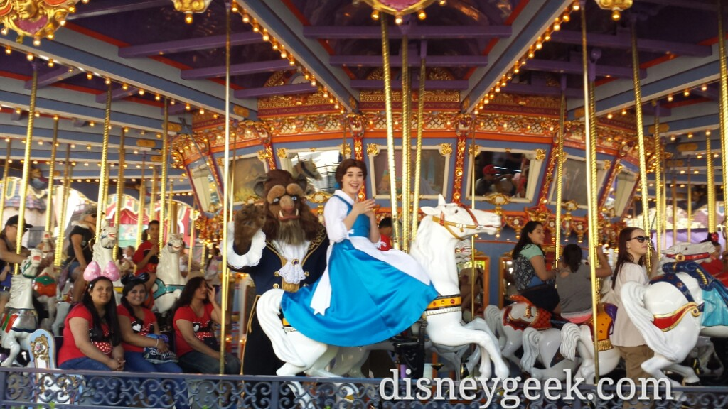 Belle Amp The Beast Enjoying King Arthur Carrousel At
