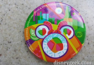 Week 3 Disney California Adventure Food and Wine Festival Annual Passholder Button
