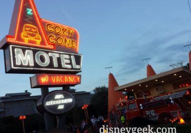 The lights just came on in #CarsLand at Disney California Adventure #CozyCone