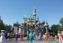 Mary Poppins & Pearly Band in front of Sleeping Beauty Castle