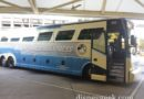 Disney's Magical Express bus waiting to depart for WDW