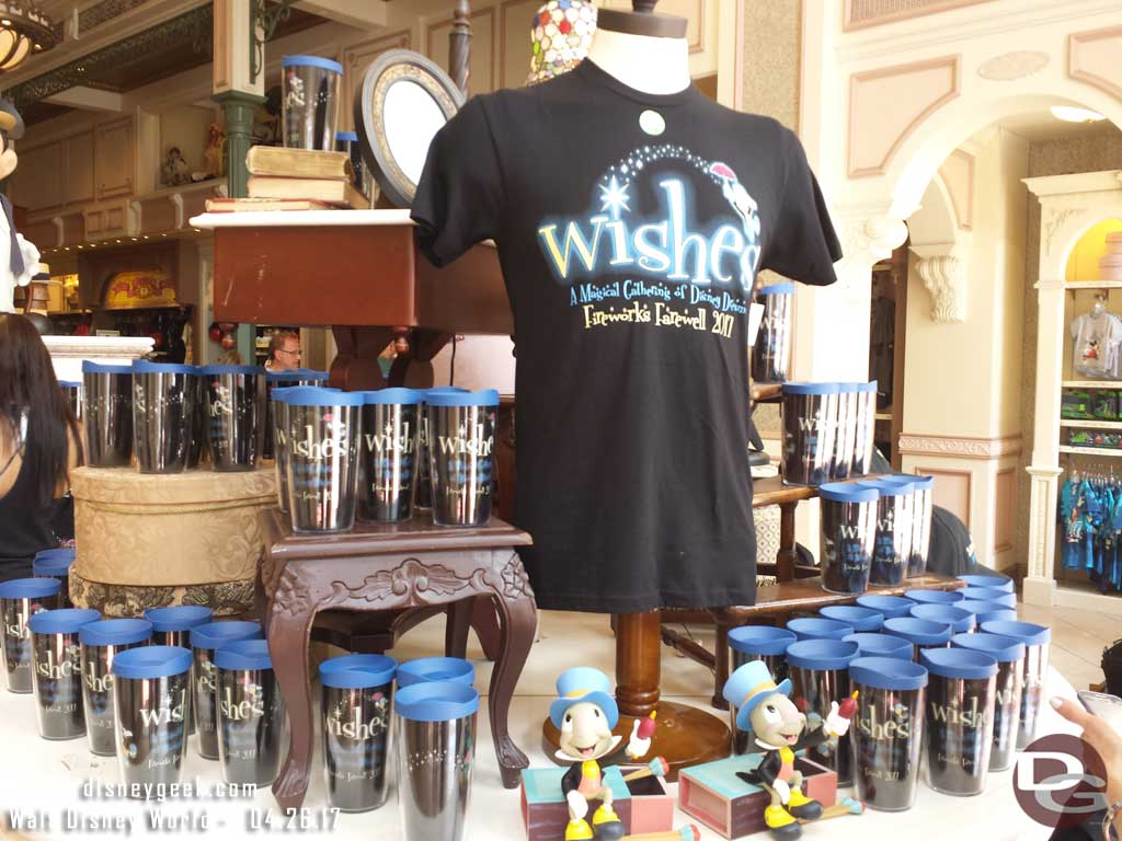 Wishes Finale merchandise is available.