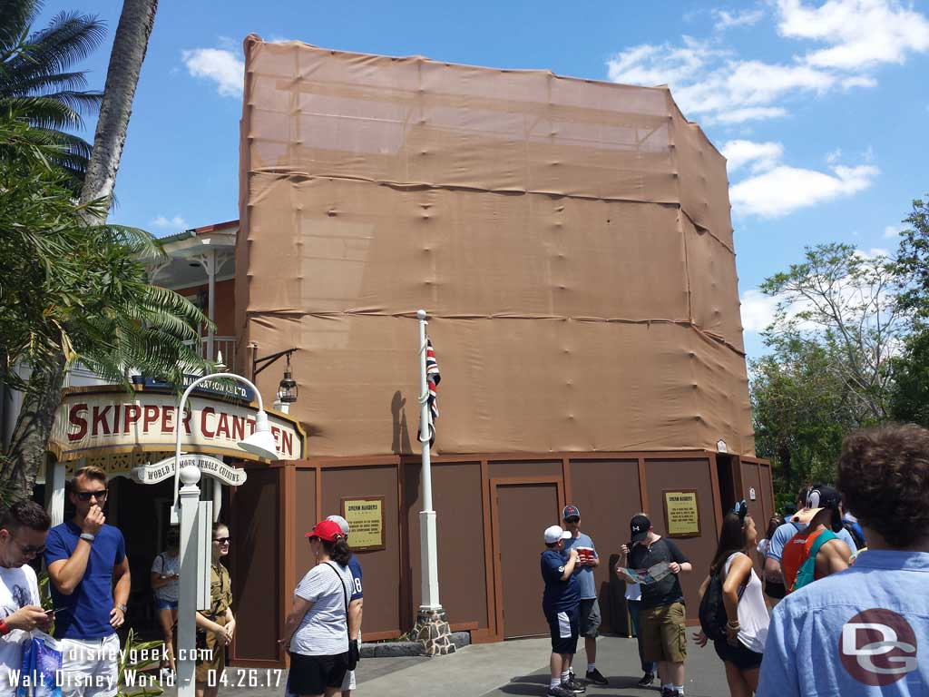 The Sunshine Tree Terrace facade is being worked on, it is still open.