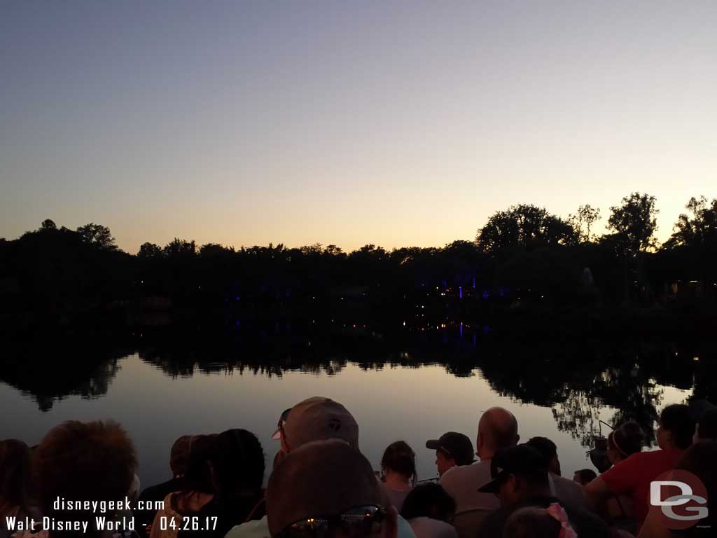 My view for my first Rivers of Light Experience