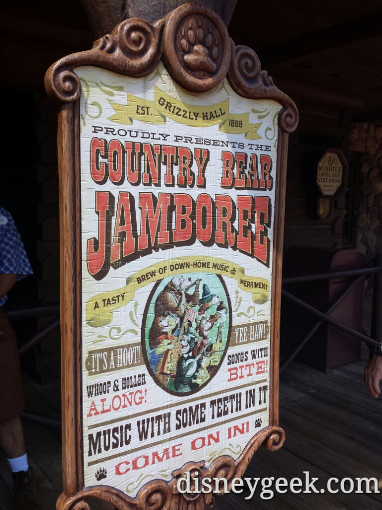 One of my favorites, the Country Bear Jamboree