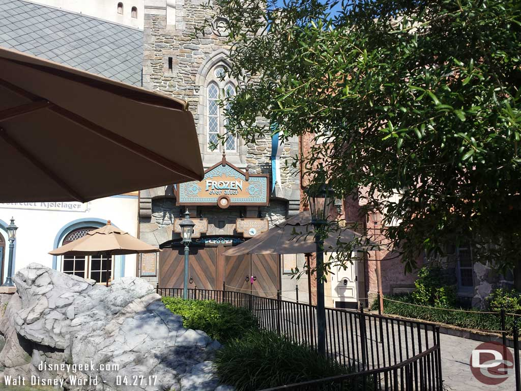 Frozen was down when it was time to use our FastPass+
