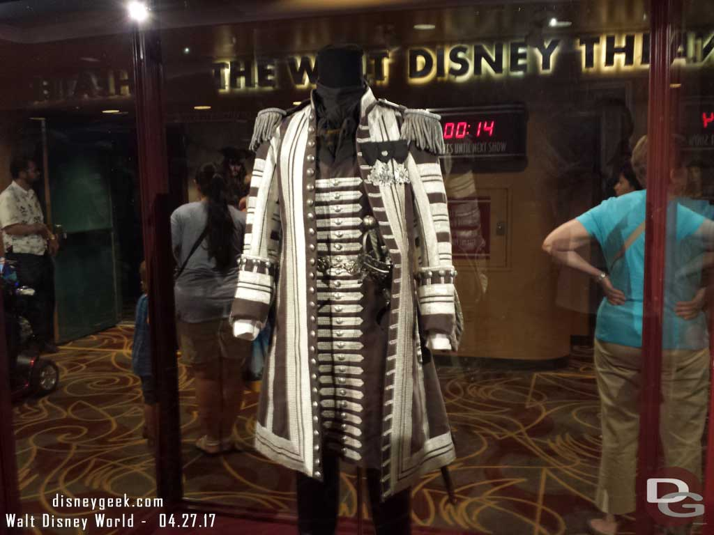 One costume from Pirates of the Caribbean in One Man's Dream
