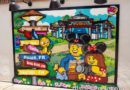 Lego photo op featuring Disney destinations at Disney Springs