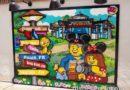 Lego photo op featuring Disney destinations at Disney Springs
