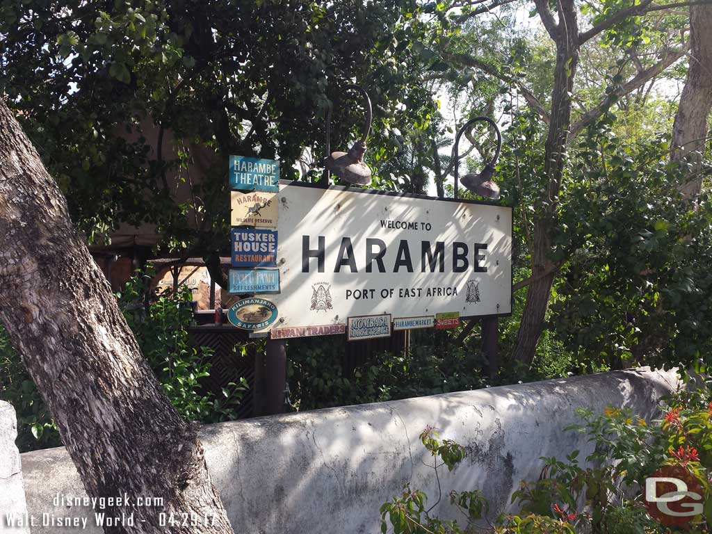 Entering Harambe at Disney's Animal Kingdom