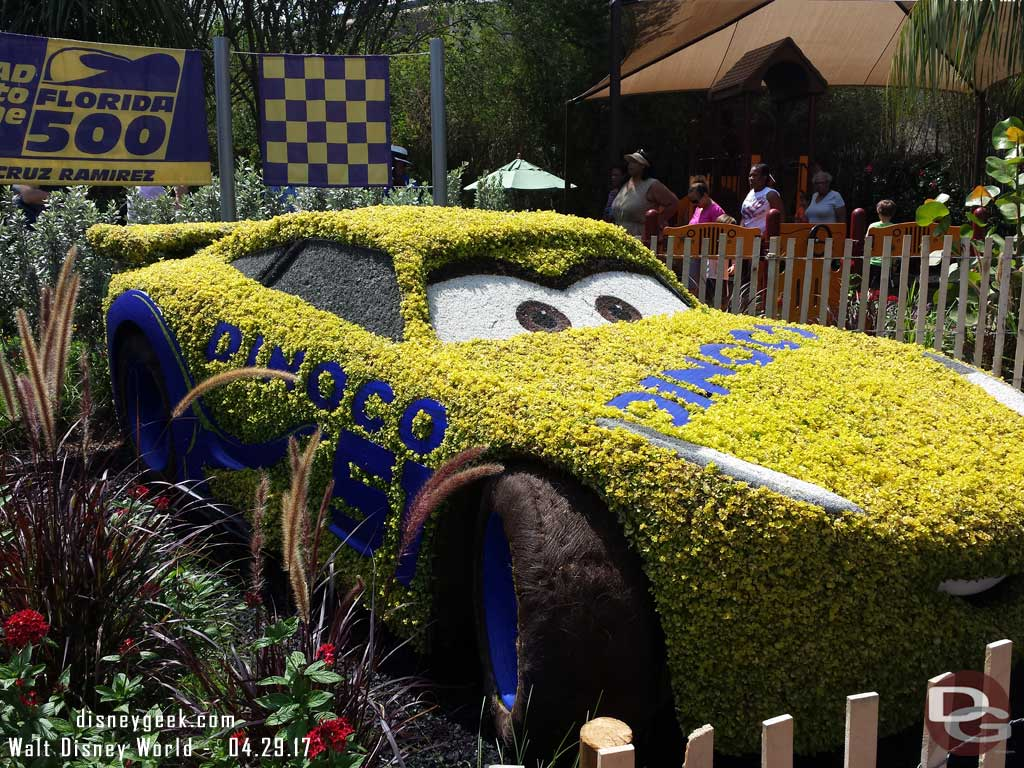 Cars 3 Topiaries