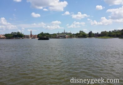 Epcot World Showcase Lagoon this afternoon
