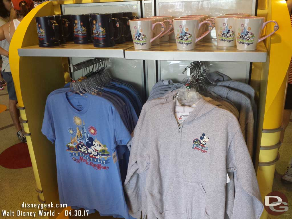 45th Anniversary Merchandise is still available in the Magic Kingdom