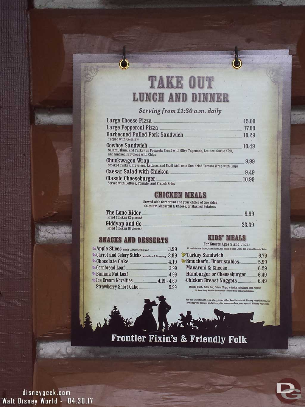 The Take Out Menu