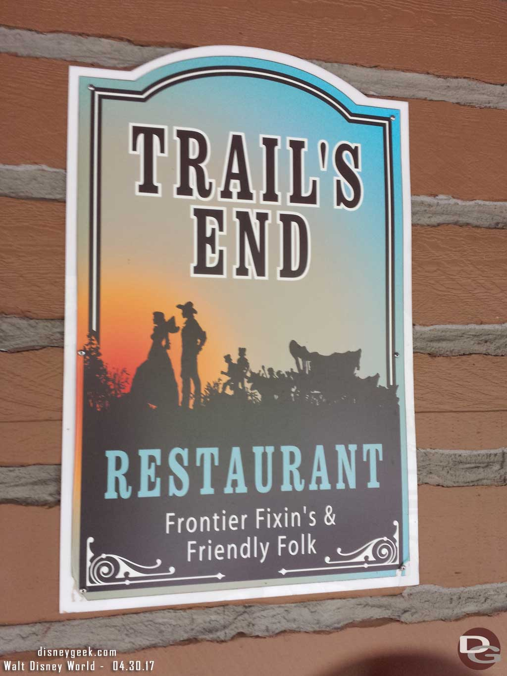 Dinner tonight.. a favorite - Trail's End