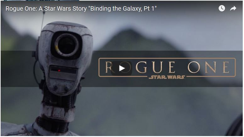 Rogue One: A Star Wars Story - Bonus Features