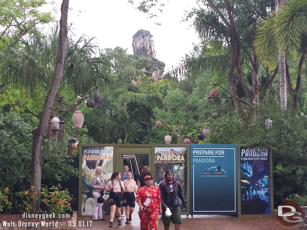 Cast Member previews for Pandora - The World of Avatar were going on today.