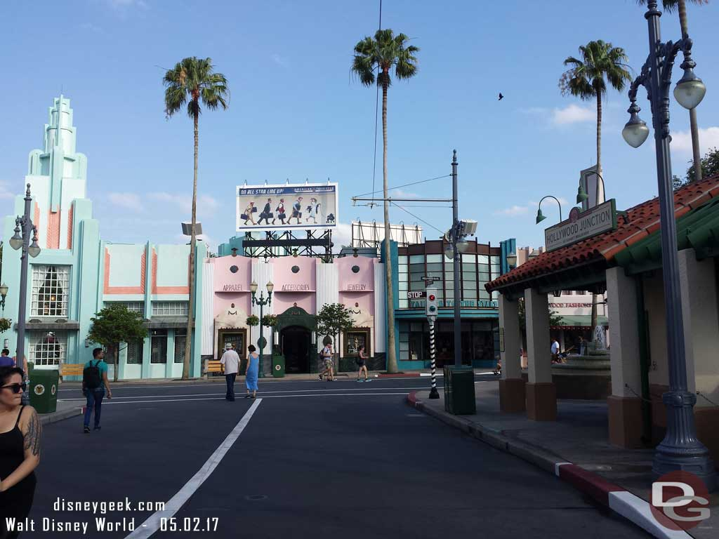 Arrived at Disney's Hollywood Studios just before 5:30pm