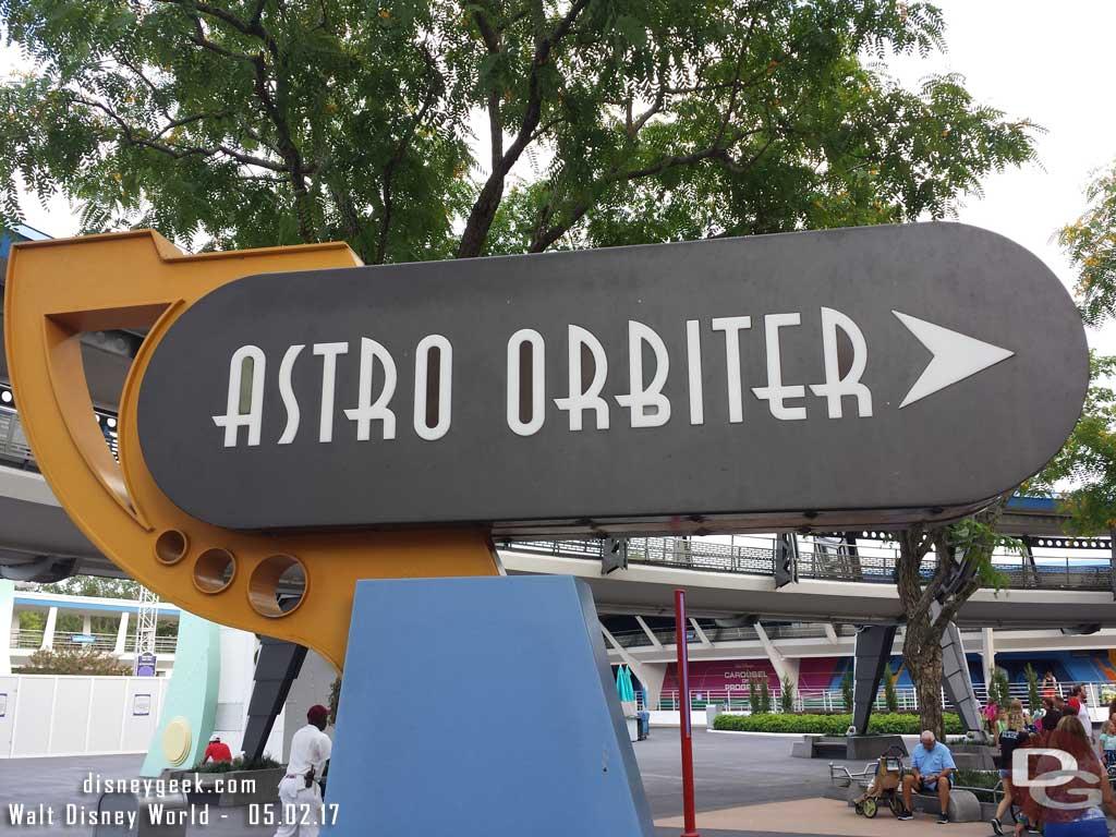 Astro Orbiter sign