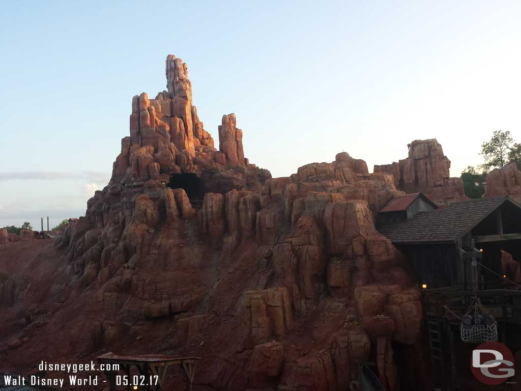 Big Thunder as the sun was starting to set