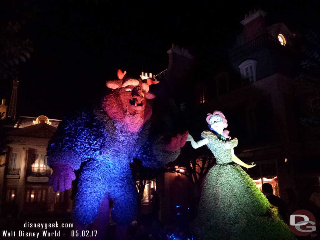 Beauty and the Beast Topiaries in France