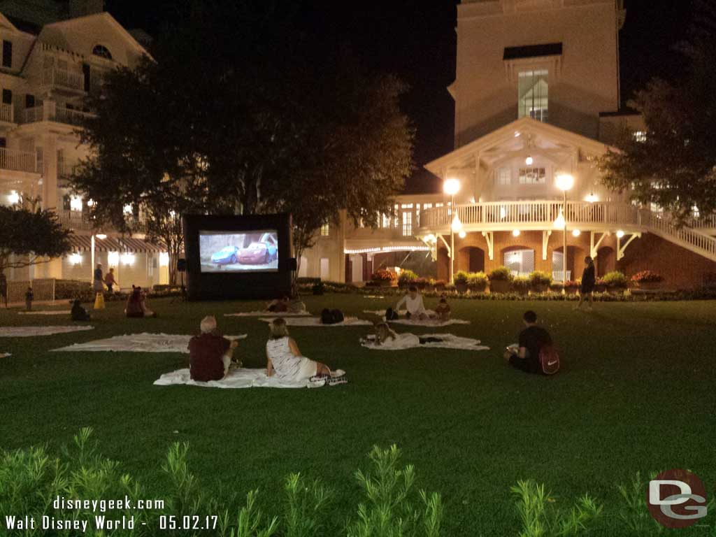 Cars playing on the Village Green at Disney's Boardwalk Resort