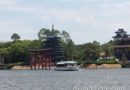 A Friendship launch cruising by Japan in Epcot World Showcase Lagoon