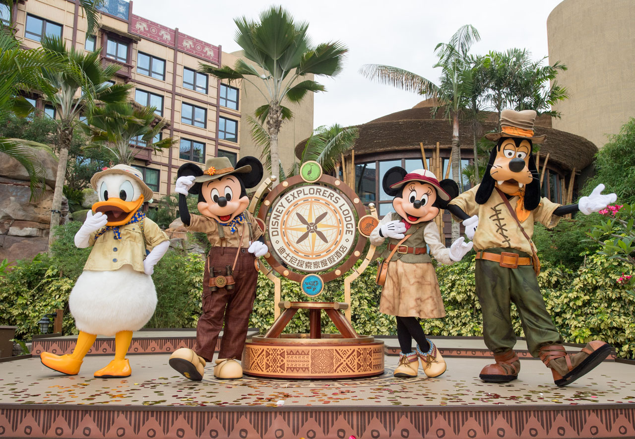 Hong Kong Disneyland Explorers Lodge Opening