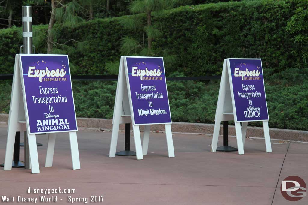 Express Transportation Signs at Epcot