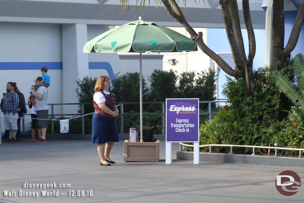 Express Transportation Check In at the Magic Kingdom