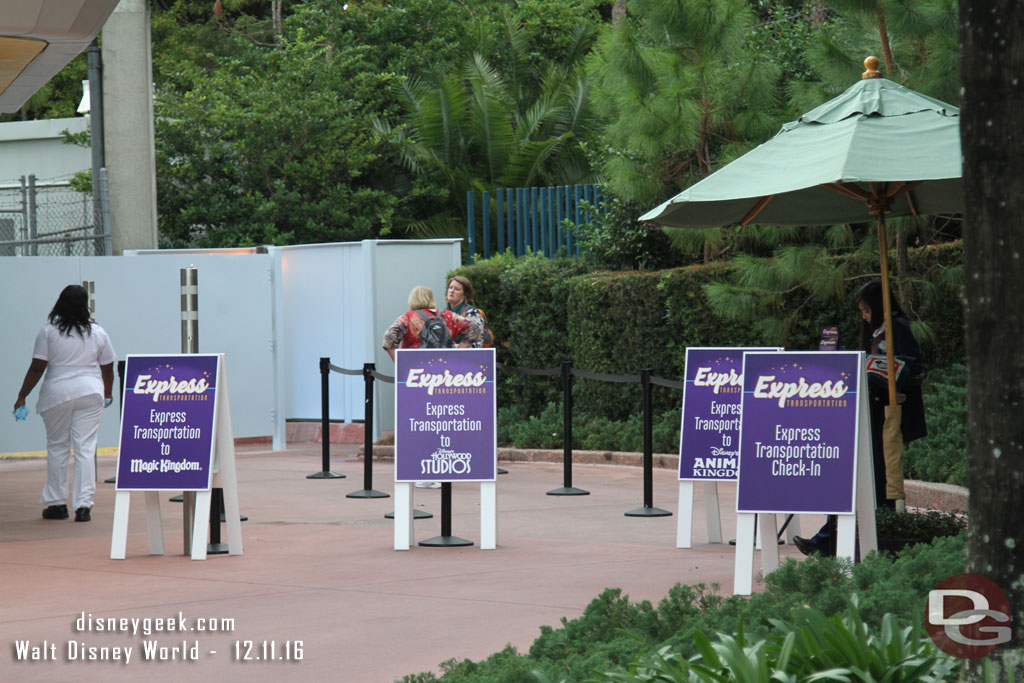 Express Transportation Check In at the Epcot