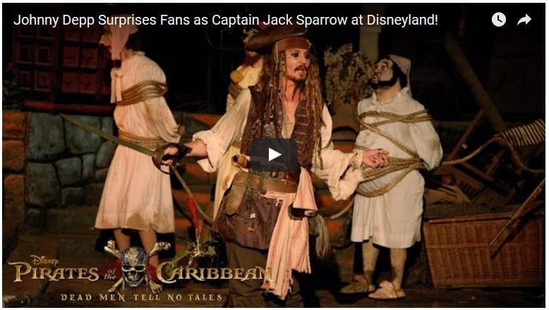 Johnny Depp as Jack Sparrow at Disneyland