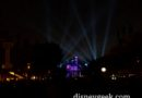 #Disneyland – No fireworks but ran some of the show – audio, projections & lights (skipped attraction segment)