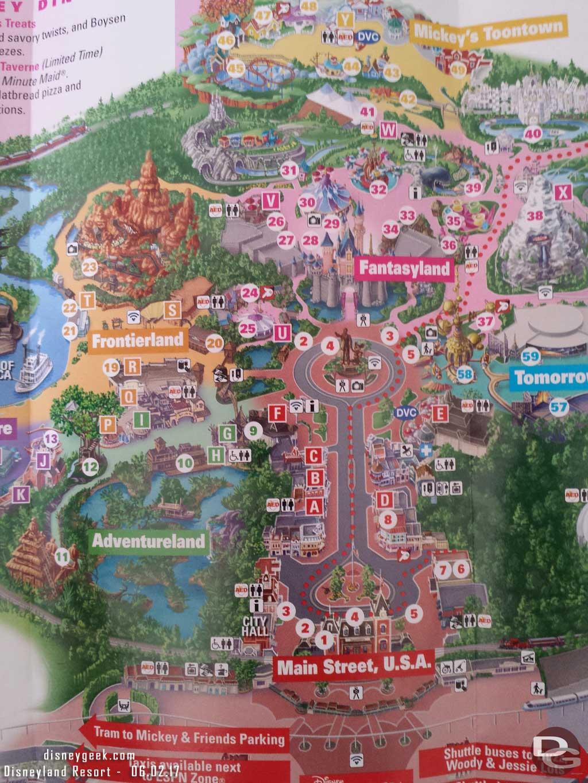 Disneyland Park Map as of June 2017