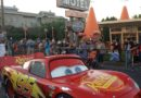 Lightning McQueen passing the Cozy Cone on Route 66 #CarsLand