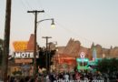 Neon coming on for the evening in #CarsLand
